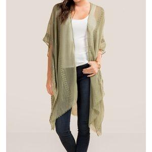 Other - Sheer green kimono